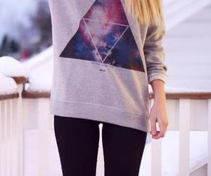 girl, outfit, and galaxy image