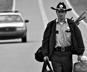 twd, rick, and the walking dead image