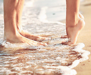 lovely, lovers, and beach image
