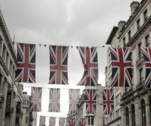 london, union jack, and vintage image