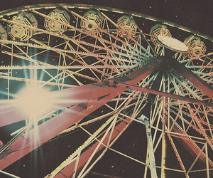 photography, ferris wheel, and indie image