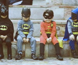 batman, kids, and robin image