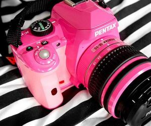 pink, camera, and pentax image