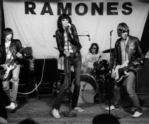 ramones, the ramones, and black and white image