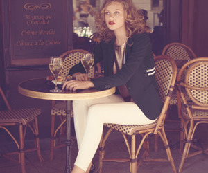 girl, model, and cafe image