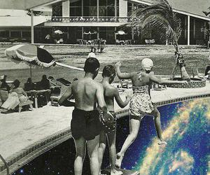pool, galaxy, and universe image