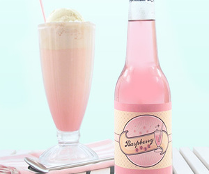 pink, drink, and raspberry image