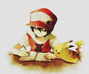 pokemon, pikachu, and red image