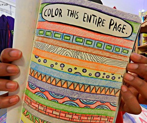 book, color, and girl image