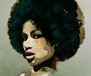 African, beautiful, and negra image