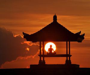 meditation and nature image