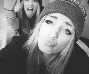 beanie, fuck, and black and white image