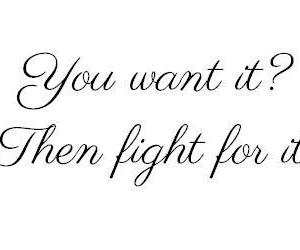 quotes, fight, and want image