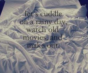 cuddle, love, and bed image