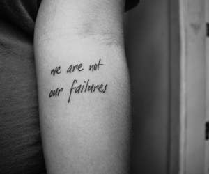 tattoo, failure, and quote image