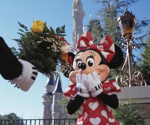 disney, love, and flowers image