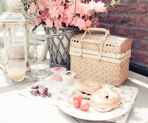 picnic, flowers, and food image