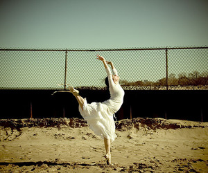 ballet, fence, and dancing image