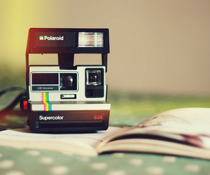 polaroid and book image