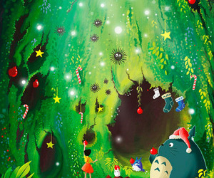 totoro and christmas image