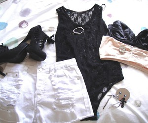 crop, heels, and outfit image