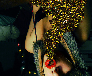 glitter, girl, and lips image
