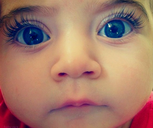 baby, eyes, and blue image