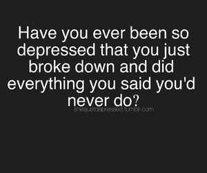 depressed and quote image