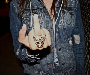 fashion, ring, and fuck you image