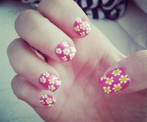flowers, nail art, and spring image