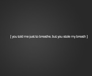 breathe and typography image