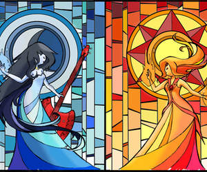 adventure time, marceline, and flame princess image