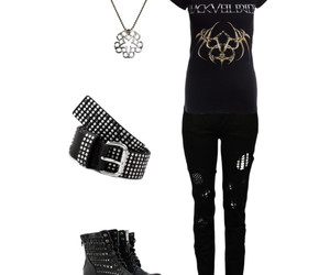 clothes, necklace, and bvb image