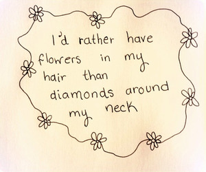 flowers, diamond, and quotes image