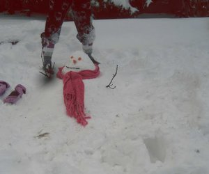 frio, snow, and snowman image