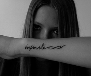 tattoo, girl, and infinite image