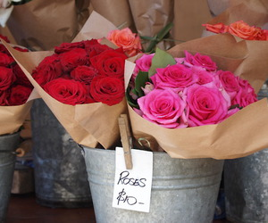 flowers, rose, and flower shop image