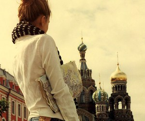 girl, russia, and map image