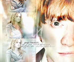 deathly hallows, emma watson, and harry potter image