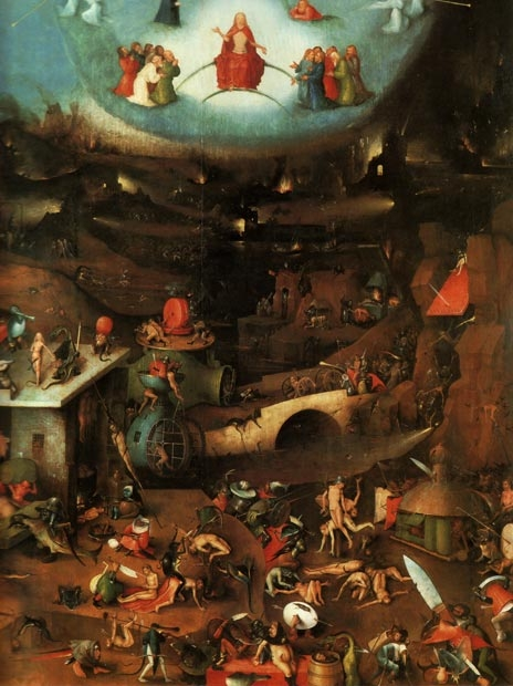 hieronymus bosch, apocalypse, and destruction image