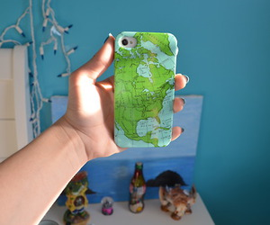 case, iphone, and world image