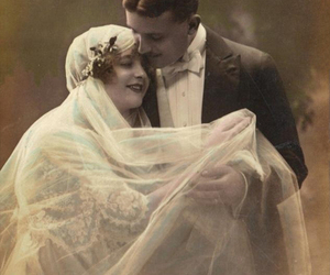 edwardian bride and groom image