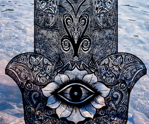 eye, hamsa, and hand image