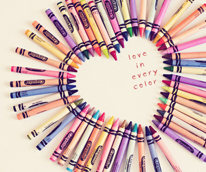 love, heart, and crayon image