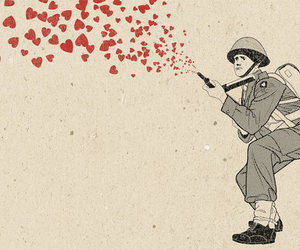 art, soldier, and heart image