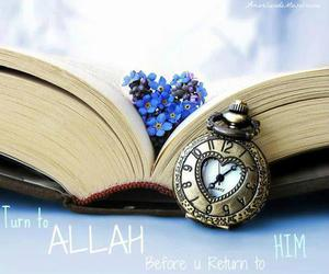 allah, book, and flower image