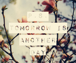 tomorrow, quote, and day image