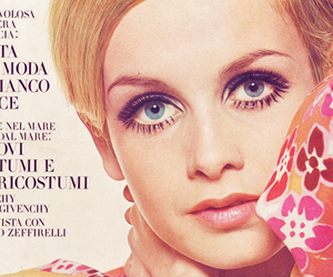 twiggy, 60s, and vogue image
