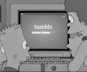 tumblr, simpsons, and black and white image