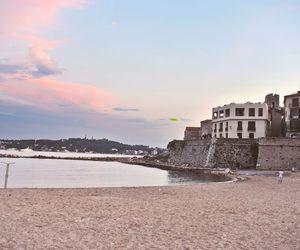beach, castle, and clouds image